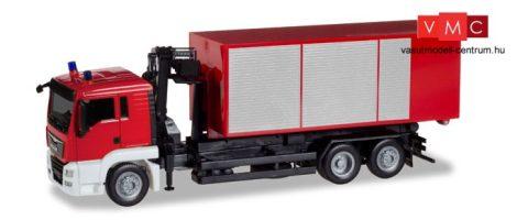 Herpa 013406 Minikit - MAN TGS L cserefelépítmény-szállító tűzoltóteherautó - Feuerweh
