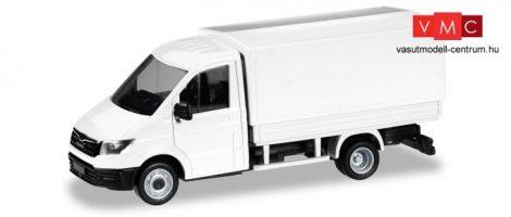 Herpa 013451 Minikit - MAN TGE, platós/ponyvás - fehér (H0)