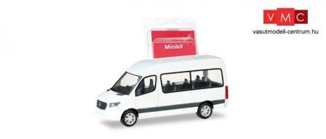 Herpa 013468 Minikit - Mercedes-Benz Sprinter HD 2018 busz - fehér (H0)