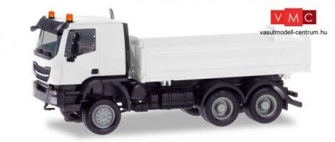 Herpa 013673 Minikit - Iveco Trakker billencs, Meiller - fehér (H0)