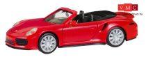 Herpa 028929 Porsche 911 Turbo Cabrio, piros (H0)