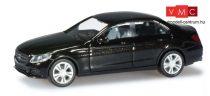 Herpa 038324 Mercedes-Benz C-Klasse (W205) Avantgarde, metál színben - obsidianfekete (H0)