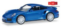 Herpa 038614 Porsche 911 Turbo, metál színben - zafírkék (H0)