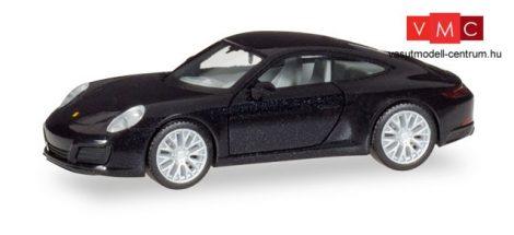 Herpa 038638-002 Porsche 911 Carrera 4S, metál színben - fekete (H0)