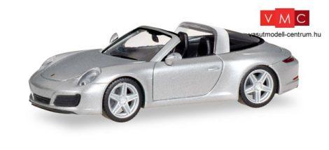 Herpa 038904 Porsche 911 Targa 4S, metál színben - ezüst (H0)