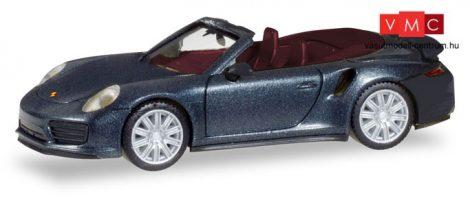 Herpa 038928 Porsche 911 Turbo Cabrio, metál színben - fekete (H0)