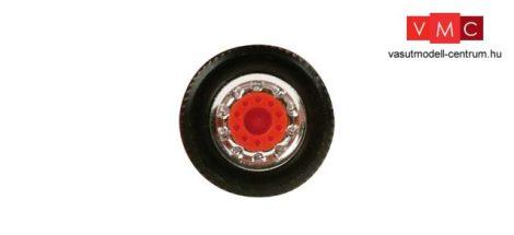 Herpa 051996 Kerékkészlet teherautókhoz, króm/piros, 8 részes (H0)