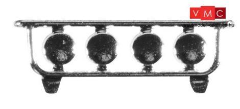 Herpa 052245 Lámpatestek nehézvontatókhoz, króm (H0)