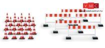 Herpa 052566 Közúti terelőkorlátok (5 db) és bólyák (20 db) (H0)