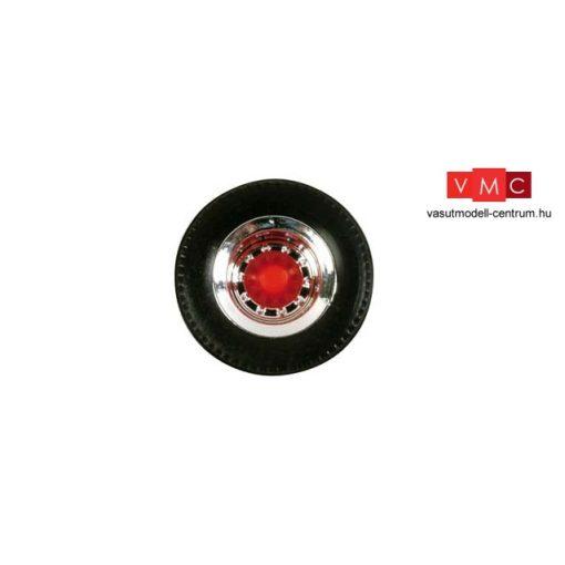 Herpa 052610 Kerékkészlet Medium pótkocsikhoz (króm/piros - 12 részes (H0)