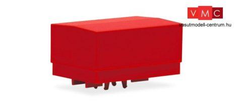 Herpa 053877-002 Ponyvás nagy ballasztplató nehézteher vontatókhoz, piros - 2 db (H0)