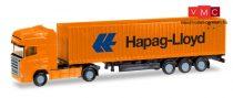 Herpa 066723 Scania R TL nyergesvontató, konténerszállító félpótkocsival, Hapag Lloyd (N