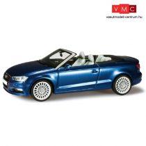Herpa 070812 Audi A3 Cabrio, metál színben - gyöngyház scubakék (1:43)