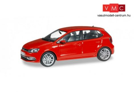 Herpa 070836 Volkswagen Polo facelift, 5-ajtós -metál flash-piros (1:43)