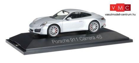Herpa 071055 Porsche 911 Carrera 4S Coupé , metál színben - rhodiumezüst (1:43)
