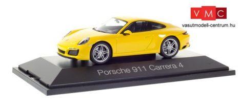 Herpa 071086 Porsche 911 Carrera 4 Coupé - sárga (1:43)