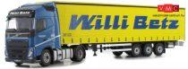 Herpa 071314 Volvo FH Gl. nyergesvontató, Lowliner ponyvás nyergesvontató - Willi Betz (1:50