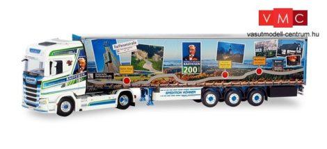 Herpa 071536 Scania CS HD nyergesvontató, ponyvás félpótkocsival - Höhner Raiffeisenliner
