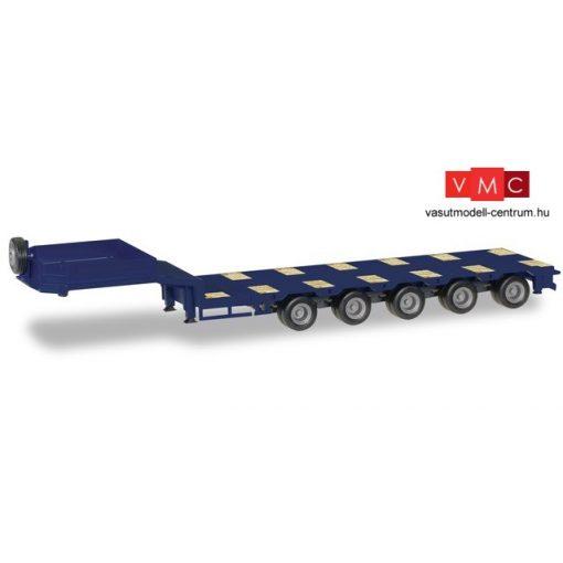 Herpa 076388-008 Munkagépszállító félpótkocsi, 5 tengelyes, kék (H0)