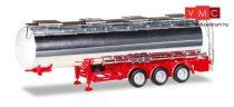 Herpa 076456-002 Tartály félpótkocsi vegyianyag szállításhoz, piros alvázzal (H0)