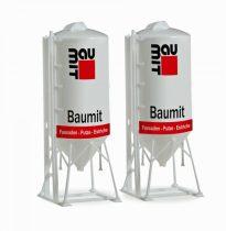 Herpa 076883 Rakomány: Álló betonsiló (2 db) építkezésekhez, BauMit (H0)