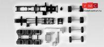 Herpa 083157 TS MAN TGX 680 nyerges nehéztehervontató alváz, 4-tengelyes, 2 db