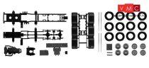 Herpa 084345 TS Komplett alváz Mercedes-Benz Actros SLT 4-tengelyes nehézteher vontatóhoz -