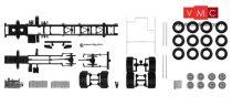 Herpa 084703 TS Teherautóalváz Volvo 4-tengelyes teherautókhoz, alvázborítással, 2 db (H0