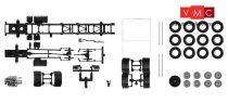 Herpa 084710 TS Teherautóalváz Scania 4-tengelyes teherautókhoz, aláfutásgátlóval, 2 db