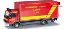 Herpa 091435 Mercedes-Benz Atego 2004 dobozos tűzoltóautó emelőhátfallal - FW Wuppertal (H