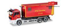 Herpa 092722 MAN TGS M legördíthető konténerszállító tűzoltó - Feuerwehrtechnische Zen