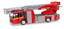 Herpa 092777 Mercedes-Benz Econic Metz DL L32 XS létrás tűzoltó - Feuerwehr (H0)