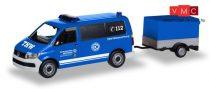 Herpa 093668 Volkswagen T6 busz, utánfutóval, THW Korbach / Höhenrettung (H0)