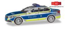 Herpa 094566 BMW 5-ös Limousine (G30), német rendőrség - Lotsenfahrzeug Polizei München (H