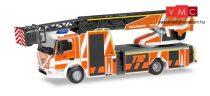 Herpa 095075 Mercedes-Benz Atego Rosenbauer L32A DLK létrás tűzoltó, FW Fulda (H0)