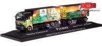 Herpa 121941 MAN TGX XLX dobozos teherautó pótkocsival - Pyraser Brauerei / Thoma Transporte