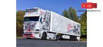 Herpa 121958 Scania R 2013 TL nyergesvontató, dobozos félpótkocsival, The Stones (Thüringen