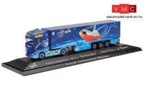 Herpa 122078 Scania CS20 HD nyergesvontató, hűtődobozos félpótkocsival - Weihnachts 2020 (