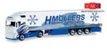 Herpa 306317 Volvo FH GL nyergesvontató, hűtődobozos félpótkocsival - H.Möllers (H0)