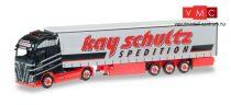 Herpa 306980 Volvo FH GL XL nyergesvontató, ponyvás félpótkocsival - Kay Schultz (H0)