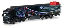 Herpa 307000 Scania R TL nyergesvontató, hűtődobozos félpótkocsival - John Vonk (NL) (H0)