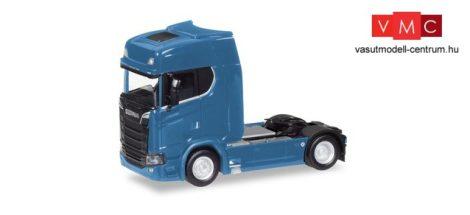 Herpa 307468-003 Scania CS 20 HD V8 nyergesvontató napellenzővel - enciánkék (H0)