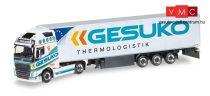 Herpa 307994 Volvo FH Gl. Nyergesvontató, hűtődobozos félpótkocsival - GESUKO (H0)