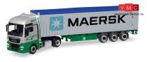 Herpa 308441 MAN TGX XXL Euro 6c nyergesvontató, konténerszállító félpótkocsival - EKB /