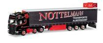 Herpa 308496 Scania R TL 6x2 nyergesvontató, ponyvás félpótkocsival - Nottelmann (H0)