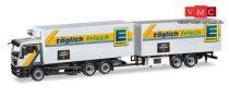Herpa 308557 MAN TGS M hűtődobozos teherautó, tandem-pótkocsival - EDEKA (H0)
