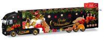 Herpa 308960 Iveco Stralis XP nyergesvontató, dobozos félpótkocsival - Herpa Weihnachtstruck