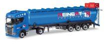 Herpa 308984 Scania CS nyergesvontató, ADR silótartályos félpótkocsival - Reinert (H0)