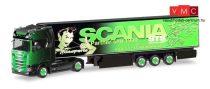 Herpa 309370 Scania CS HD nyergesvontató, hűtődobozos félpótkocsival - GS Transporte (H0)