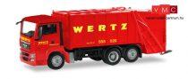 Herpa 309424 MAN TGS szemeteskocsi, Wertz Aachen (H0)